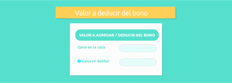 Valor a deducir del bono
