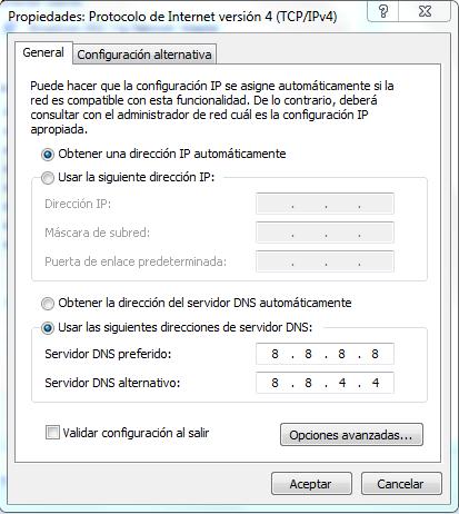 Cambiar configuracion DNS problema betfair