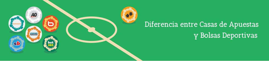 La diferencia entre casas de apuestas e bolsas deportivas