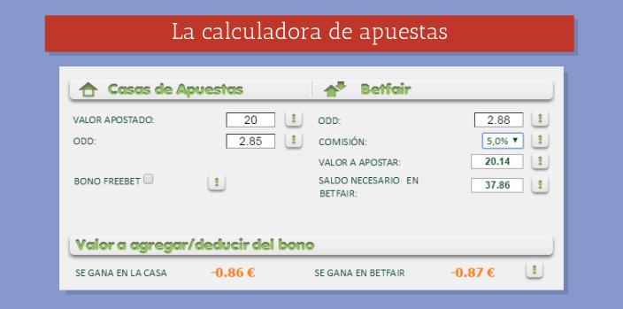 La calculadora de apuestas