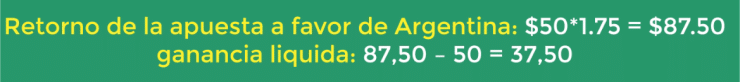 Retorno de la apuesta en Argentina