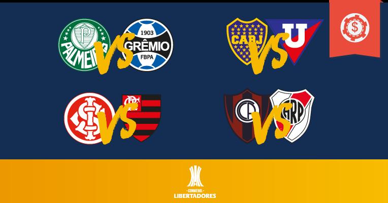 Pronósticos Copa Libertadores- Cuartos de Final - Vuelta