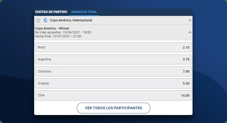 Apostar Al Ganador De La Copa America